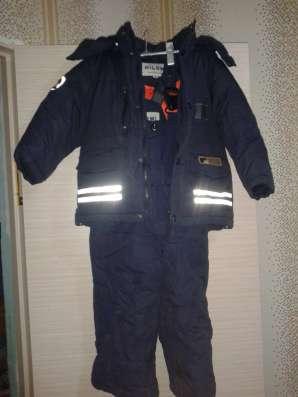 Теплый зимний детский костюм.