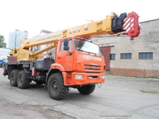Аренда автокрана 25 тонн 31 метр ВЕЗДЕХОД