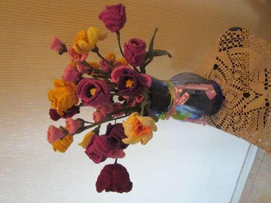 Вязаные цветы Ручная работа в Москве Фото 4