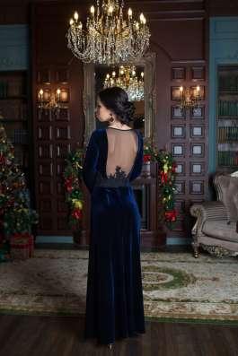 Синее бархатное платье от KUTUZOV в Санкт-Петербурге Фото 1