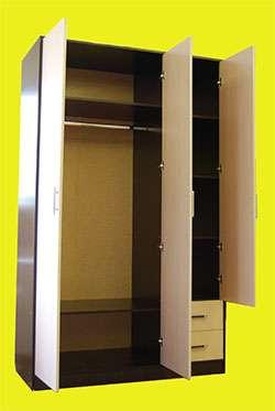 ШКАФ 3 дверный распашной с ящиками