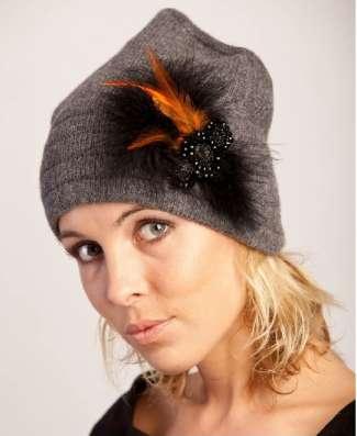 Женская трикотажная шапка модель 387