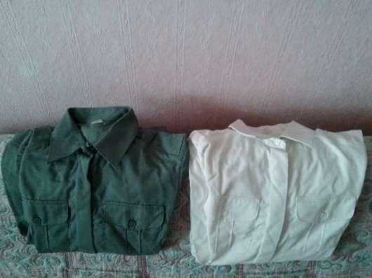 Рубашки военные (белые,цвета хаки)