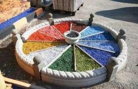 Ландшафтный цветной декоративный щебень