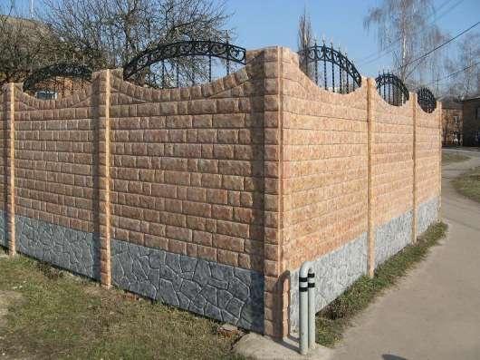 Еврозаборы глянцевые, цветные мрамор из бетона в г. Харьков Фото 1