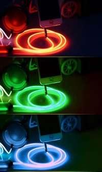 Светящиеся наушники Glow стань заметным в темноте! в Москве Фото 4