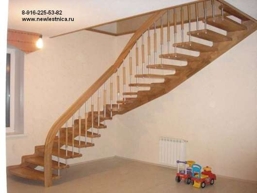 Красивые лестницы для дома, квартиры или коттеджа в Москве Фото 2