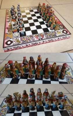Шахматы с фигурками инков и конкистадоров