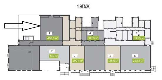 Помещение свободного назначения, 498.3 м²