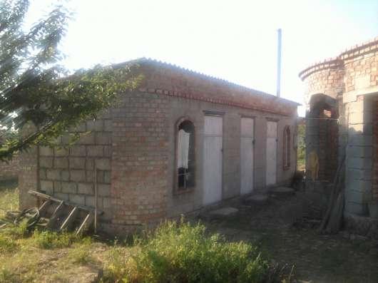 Дом с постройками и насаждениями