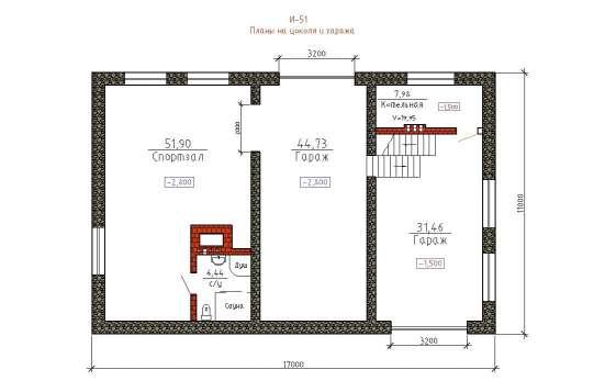Проект дома Шале 370 кв. м / Артикул И-51