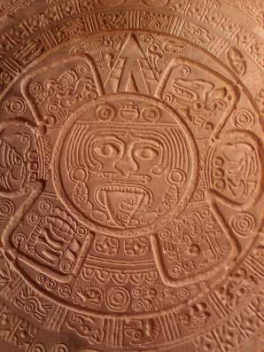 Оттиск календаря майя в Москве Фото 2
