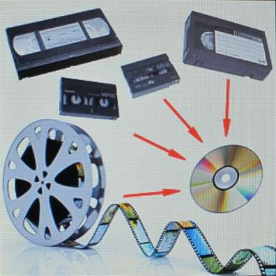 Оцифровка видеокассет и плёнок профессионально