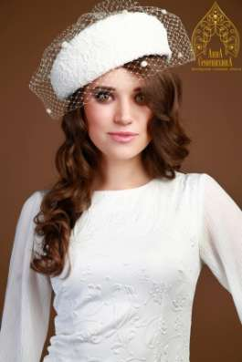 Свадебные шляпы, шляпки, вуалетки: пошив на заказ в Москве Фото 1