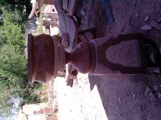 Из натурального гранита.Вазы,чаши,шары,фонтаны разной формы. в г. Кордай Фото 4