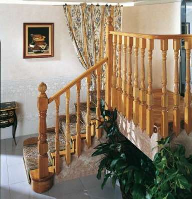 Отделка лестницы деревом по бетону