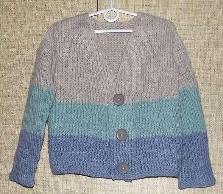 Кардиган джемпер детский вязаный шерсть мальчику 4-6-8 лет