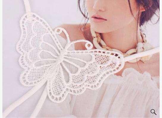 "лямки для бюстгальтера ""бабочка"", белого цвета."