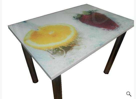 Стол стеклянный с фотопечатью