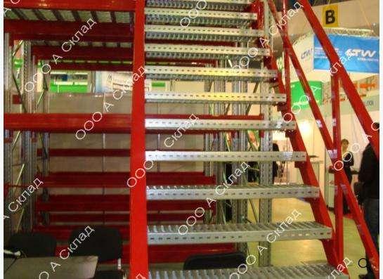 Лестницы металлические складские и промышленные.