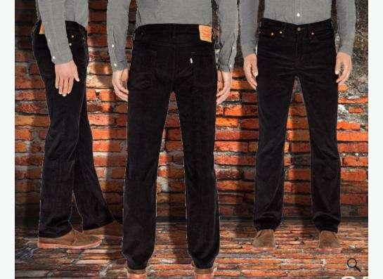 Красивые вельветовые джинсы Levis 514 32х34 в Москве Фото 1