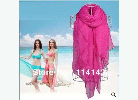 шарф розовый